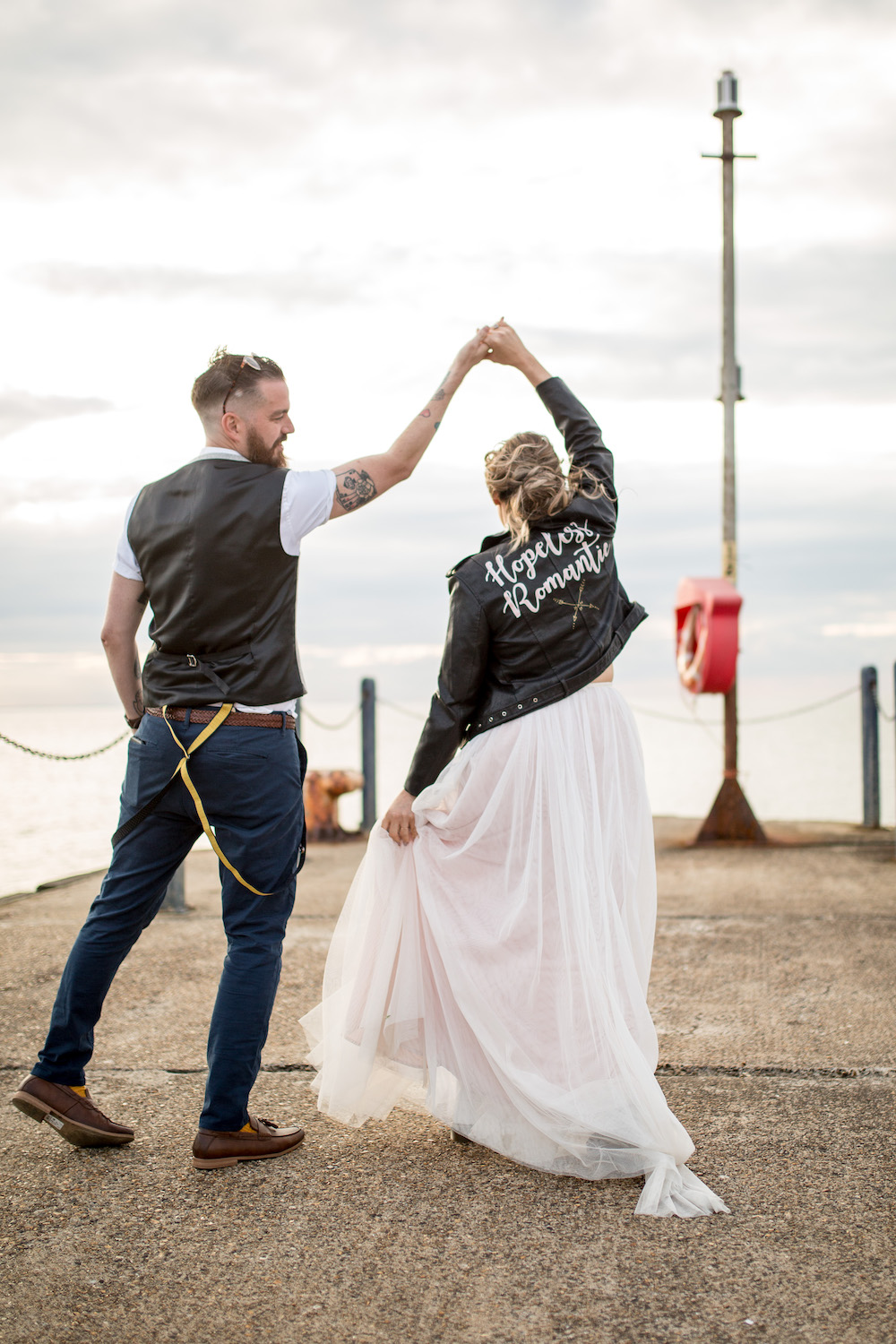 Alex + Wes, East Quay Venue, Whitstable, Kent Wedding - Florence Berry Photography-538